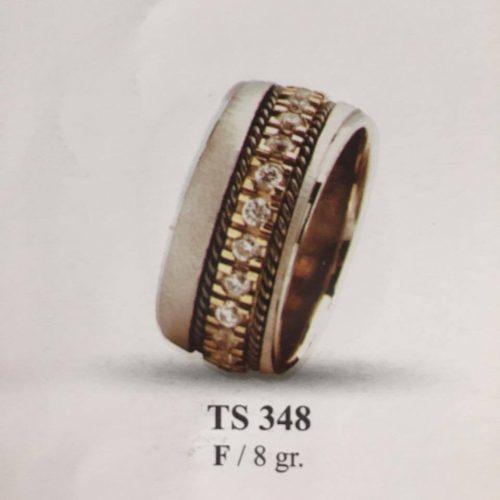 ARANY Bicolor Kísérőgyűrű – TS348