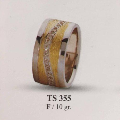 ARANY Bicolor Kísérőgyűrű – TS355