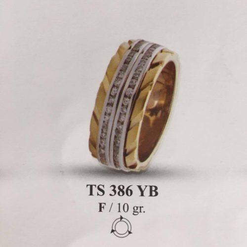 ARANY Bicolor Kísérőgyűrű – TS386YB