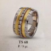 ARANY Bicolor Kísérőgyűrű – TS68