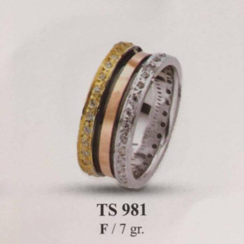 ARANY Tricolor Kísérőgyűrű – TS981