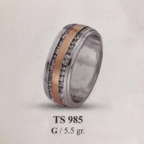 ARANY Bicolor Kísérőgyűrű – TS985