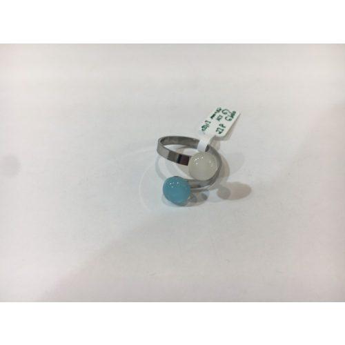 ROZETTA-Kis Üveg Gyűrű-Halvány kék