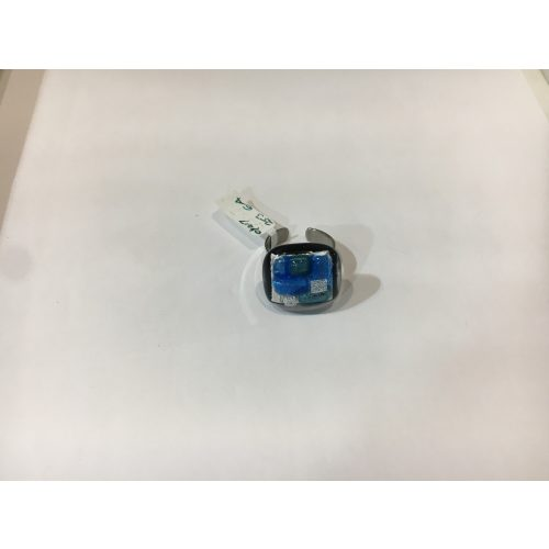 ROZETTA-Nagy Üveg Gyűrű-Kék