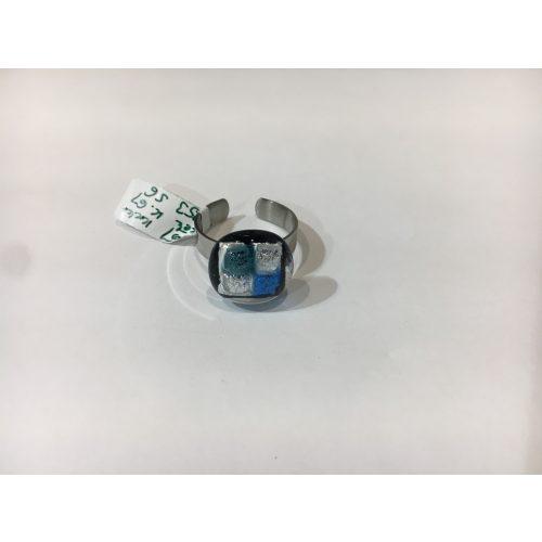 ROZETTA-Üveg Gyűrű-Kék