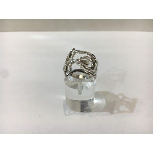 Tulipán ezüst gyűrű