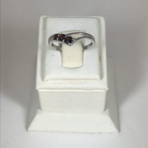 EZÜST Gyűrű Gránát – 21